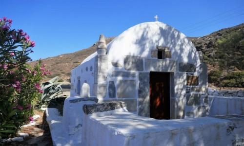 Zdjęcie GRECJA / Cyklady / Wyspa Amorgos / Urok greckich kościołów - Katapola