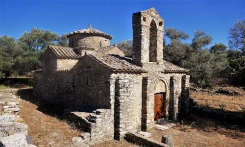 Zdjęcie GRECJA / Cyklady / Chora, Wyspa Naksos / Urok greckich kościołów - Saint George Diasoritis