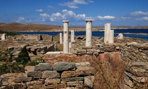 GRECJA / Cyklady / Wyspa Delos / Delos - strefa archeologiczna (UNESCO)
