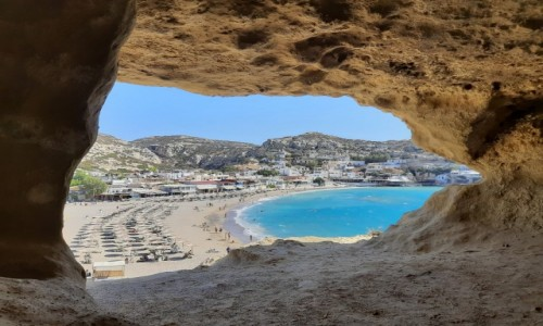 Zdjęcie GRECJA / Południowa Kreta / Matala / Widok z jaskini