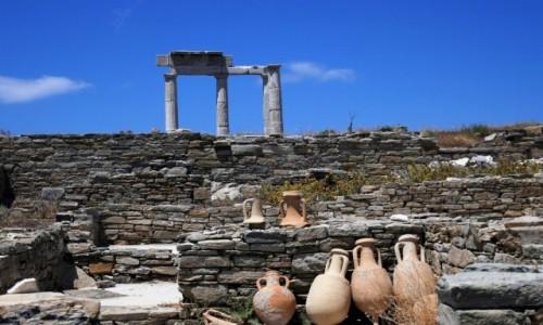 GRECJA / Cyklady / Wyspa Delos / Starożytne Delos - lista UNESCO