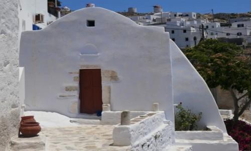 Zdjecie GRECJA / Cyklady / Wyspa Amorgos / Urok greckich kościołów - Chora