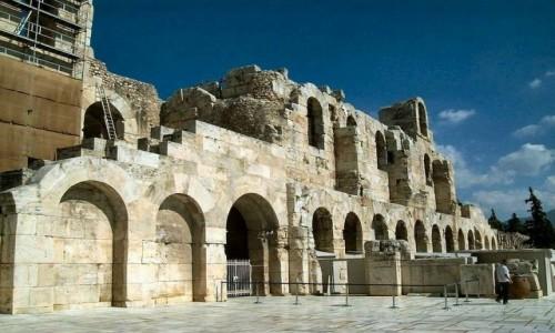 Zdjecie GRECJA / Ateny / Akropol / ATENY. Odeon Heroda Attyka  - fronton wejściowy