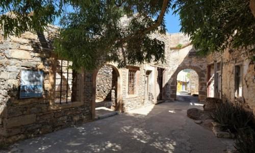 Zdjecie GRECJA / Kreta / Spinalonga, wyspa trędowatych / Budynki leprozorium