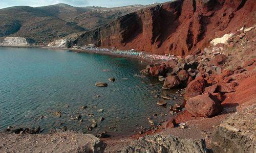 Zdjecie GRECJA / Cyklady, Santorini / Cyklady, Santorini / red beach