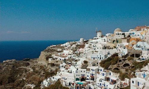 Zdjecie GRECJA / Cyklady, Santorini / Cyklady, Santorini, Oia / panorama Oia