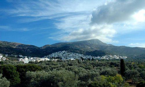 Zdjecie GRECJA / Cyklady, Naxos / Cyklady, Naxos / panorama naxos, w głębi wyspy