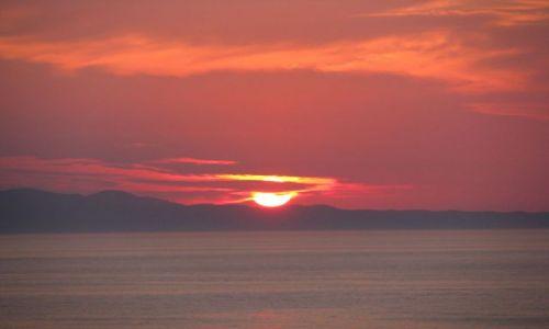 Zdjecie GRECJA / Korfu / Agios Stefanos / zachód słońca
