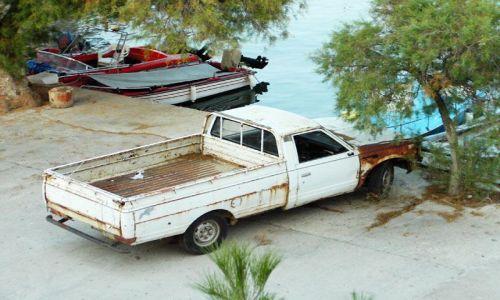 Zdjecie GRECJA / brak / Thassos / motoryzacja na wyspie