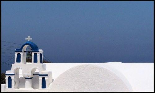 Zdjecie GRECJA / brak / Santorini / Wielki b��kit