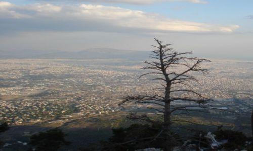 Zdjecie GRECJA / Ateny / Parnitha-najwyzszy szczyt w Atenach / widok na Ateny