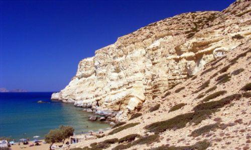 Zdjecie GRECJA / Kreta / Matala / red beach