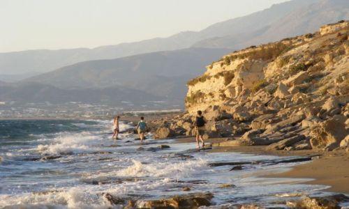 Zdjecie GRECJA / Kreta / Matala / Fragment plaży Kalamaki