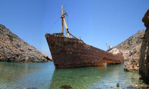 Zdjecie GRECJA / Wyspa Amorgos / prom Olimpia / Cyklady