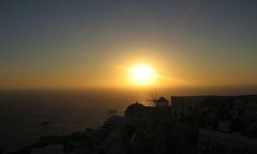 Zdjecie GRECJA / Archipelag Cyklady / Santorini / Zachód słońca I
