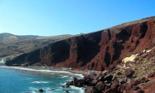 Zdjecie GRECJA / Cyklady / Wyspa Santorini / Czerwone plaże