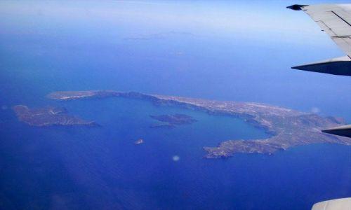 Zdjęcie GRECJA / Kreta / samolot / widok na Santorini z samolotu