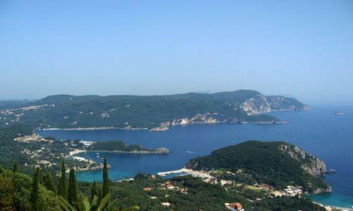 Zdjecie GRECJA / Korfu / Bella Vista / widok na Paleokastritsa