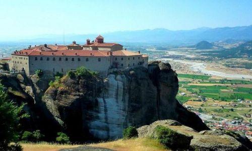 Zdjecie GRECJA / Tesalia / Meteory / Na skałach wzniesiony