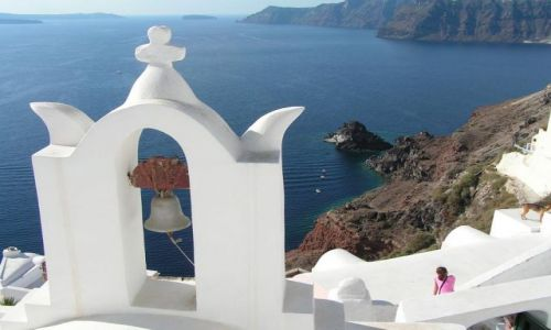 Zdjecie GRECJA / Santorini / Ol / Dzwon