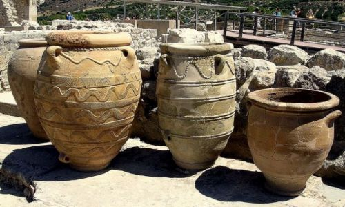 Zdjęcie GRECJA / Kreta / Knossos / Donice minojskie