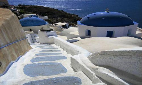 Zdjecie GRECJA / Santorini / Oia / schody ....