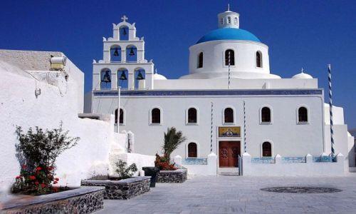 Zdjecie GRECJA / Santorini / Fira / Kościół....