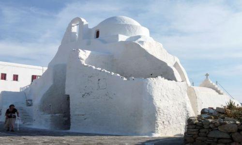 Zdjęcie GRECJA / Cyklady / Mikonos / Mikonos - nabrzeże