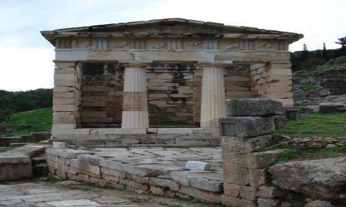 Zdjęcie GRECJA / Beocja / Delfy / Skarbiec Ateńczyków