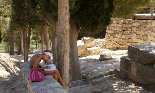 Zdjęcie GRECJA / Kreta / Knossos / Szkice
