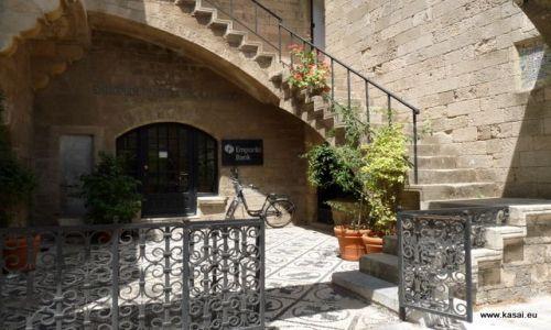 GRECJA / - / Rodos / Rodos - kiedyś siedziba rycerzy - teraz bank