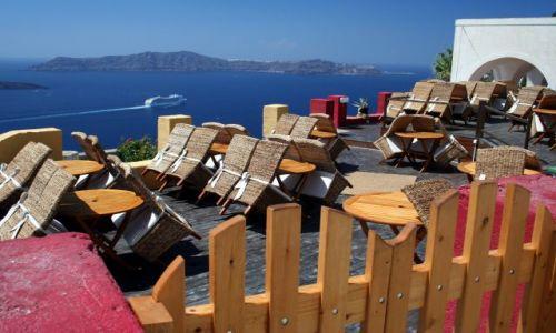 Zdjęcie GRECJA / Cyklady, Santorini / Fira / Kafejka z widokiem 3