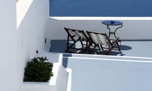 Zdjęcie GRECJA / Cyklady, Santorini / Fira / Kafejka z widokiem 4