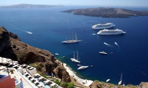 Zdjęcie GRECJA / Cyklady, Santorini / Fira / Kaldera