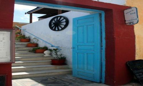 Zdjęcie GRECJA / Cyklady, Santorini / Fira / Uliczka w lewo