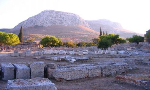 GRECJA /  Peloponez - Argolida  / Korynt / Akrokorynt  -góra sakralnej prostytucji.