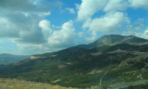 GRECJA / Góry Pindos / w drodze z Epiru do Tesalii / Panorama Gór Pindos