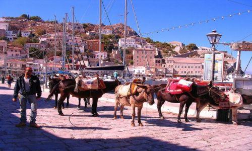 GRECJA / Wyspy Sarońskie na Morzu Jońskim / Wyspa Hydra / środki transportu na Wyspach Sarońskich