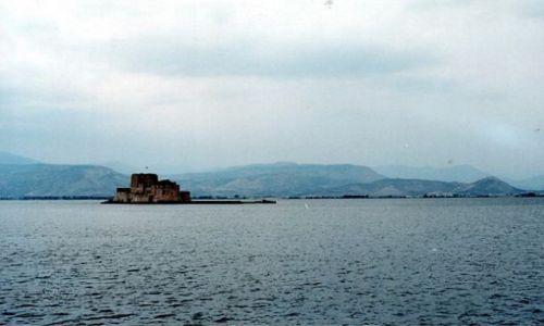 GRECJA / - / NAFPLION. / Ufortyfikowana wyspa Bourtzi.
