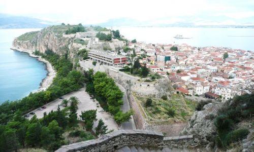 Zdjecie GRECJA / Peloponez / Navplio / Półwysep z fort