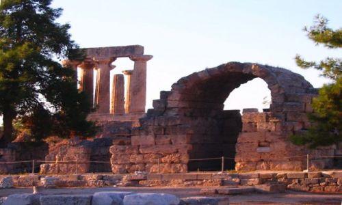 Zdjęcie GRECJA / Przesmyk Koryncki - Peloponez / Korynt / Świątynia Apollina w Koryncie