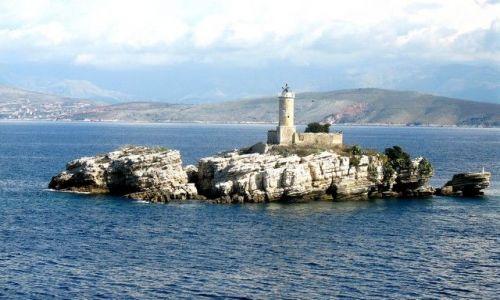 Zdjęcie GRECJA / Morze Śródziemne /  między Italią, Albanią i Grecją / Zamek warowny na wyspie