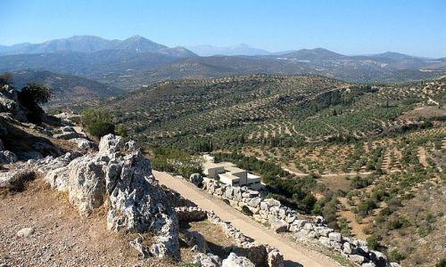 Zdjecie GRECJA / Peloponez / Mykeny / panorama z ruin mykeńskich