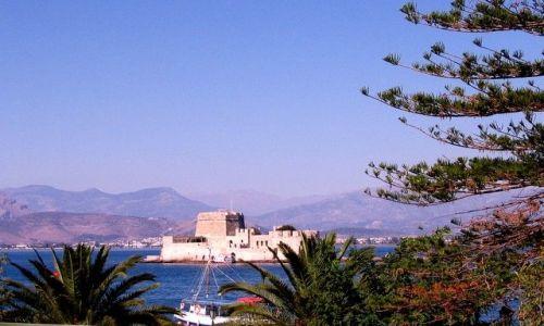 Zdjęcie GRECJA / Peloponez - Zatoka Argolidzka / Nafplion / zamek obronny Bourtzi