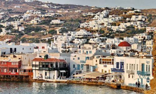 Zdjęcie GRECJA / Cyklady / Mikonos / Leniwe miasteczko greckie