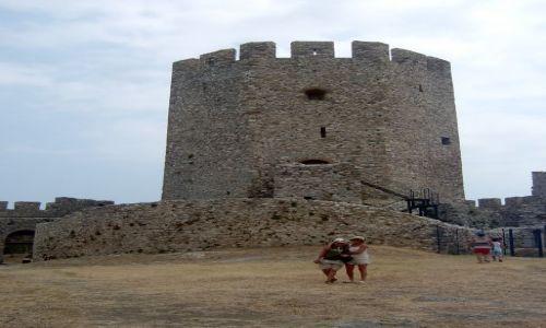 Zdjęcie GRECJA / Macedonia Środkowa / Platamonas / Zdjęcie Jednej z wież zamku w Platamonas