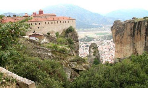 Zdjecie GRECJA / Tessalia / okolica Kalambaki - Meteory /  podniebny klasztor