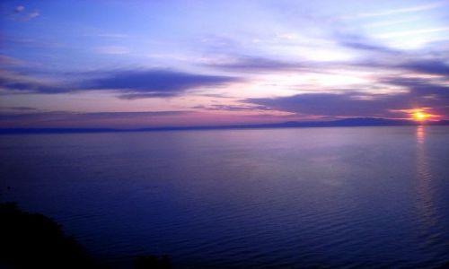 Zdjęcie GRECJA / Chalkidiki / Płw. Kassandra / Afitos / kolory Grecji o wschodzie
