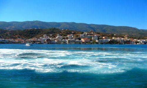 Zdjęcie GRECJA / Morze Egejskie / Zatoka Sarońska / Wyspy Sarońskie z morza