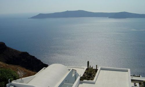 GRECJA / wyspa Santorini / Santorini / wielki błękit .....